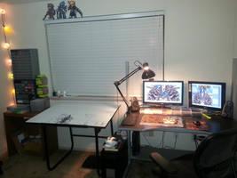 New perler setup. by Bgoodfinger