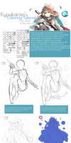 Coloring Tutorial (from sketch to final) by KyouKaraa