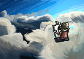 Cloud painting by Magic-Cake-Woman