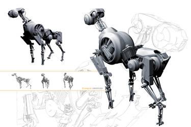 cyborg dog by sahandsl
