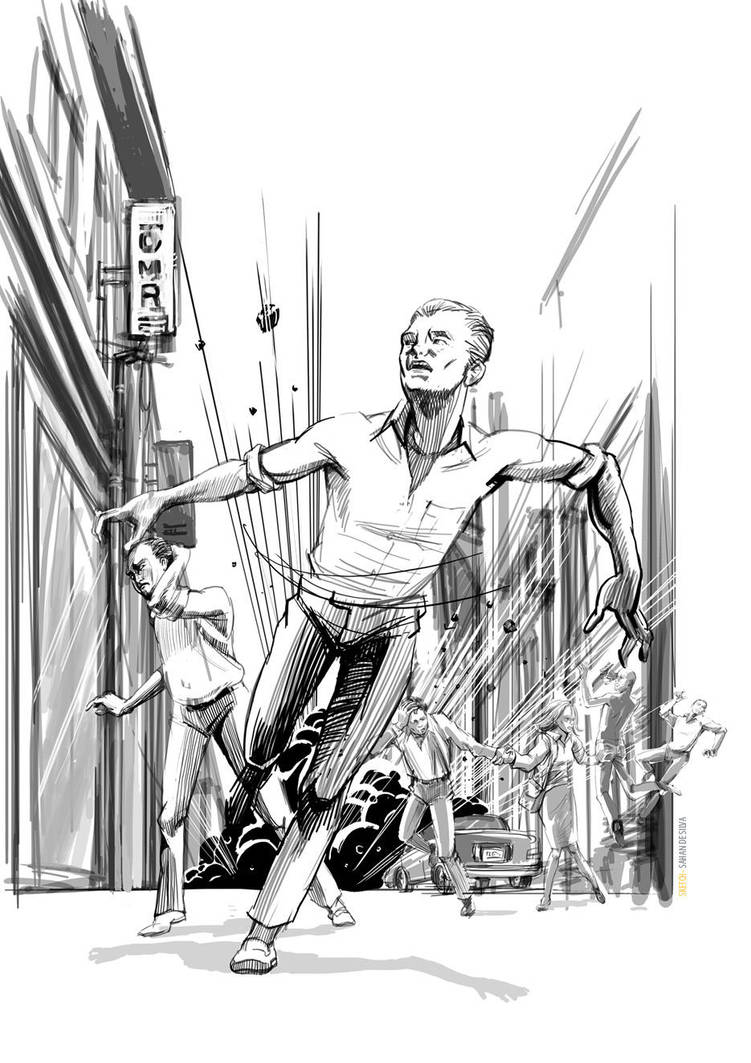 Explotion Scene Sketch by sahandsl