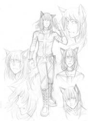 charasheet sketches-CanisMaior by Razurichan