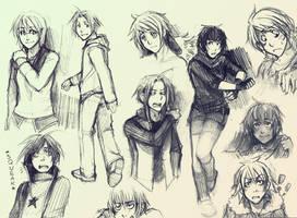 moar sketches by Razurichan