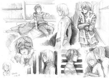 sketches-MattMello by Razurichan