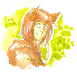 Canis watercolor by Razurichan