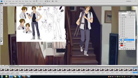 sketching animation in progress by Razurichan