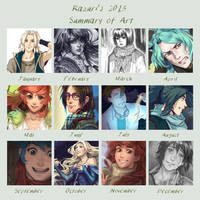 2013 art summary by Razurichan
