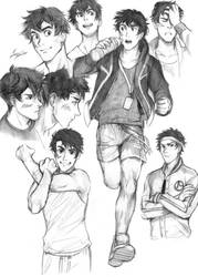 College Athlete - Sketchdump commission by Razurichan