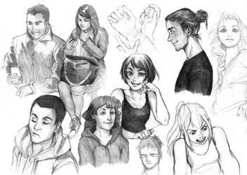Practice doodles by Razurichan