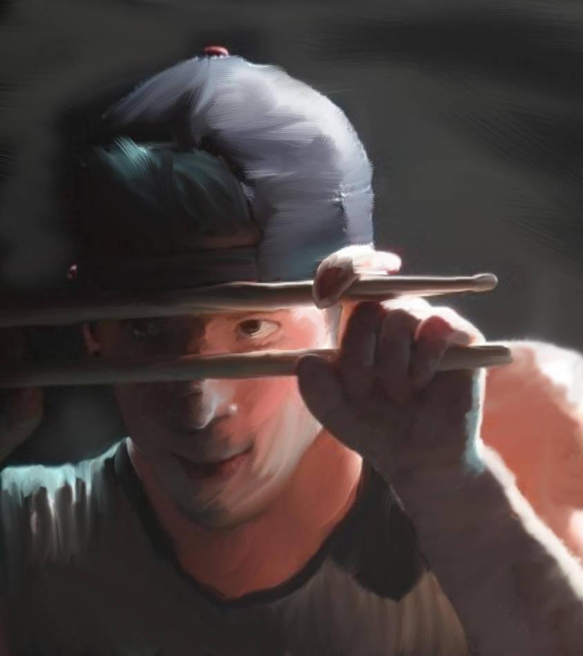 Josh-painted by 2MynameisBlurryFace1