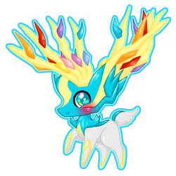 Commission: Shiny Xerneas (Anaxxxx) by Sunshineshiny