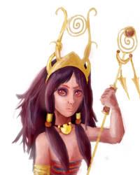 Priestess of the sun God by Goldphishy