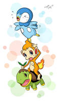 stacking the sinnoh starters by cherryfever