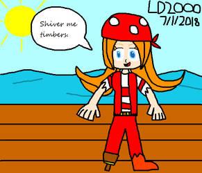 RQ: Mona as a pirate with peg-leg by Luqmandeviantart2000