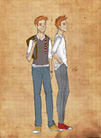 Fred and George Weasley by sputnikova