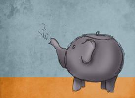 Teapot elephant doodle by Limerry