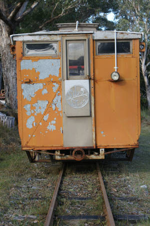 STOCK VINTAGE TRAIN REAR CARRIAGE by scratzilla
