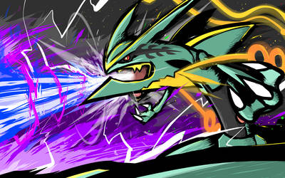 Mega Rayquaza | Dragon Pulse by ishmam