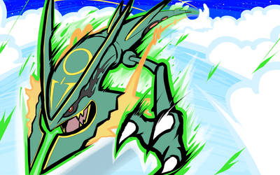 Mega Rayquaza | Dragon Ascent by ishmam