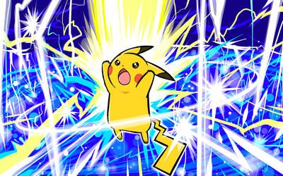 Pikachu   Thunder by ishmam