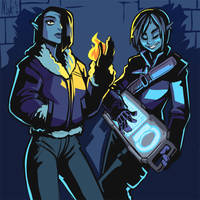 Sister Shadowrunners by Lord-Of-The-Guns