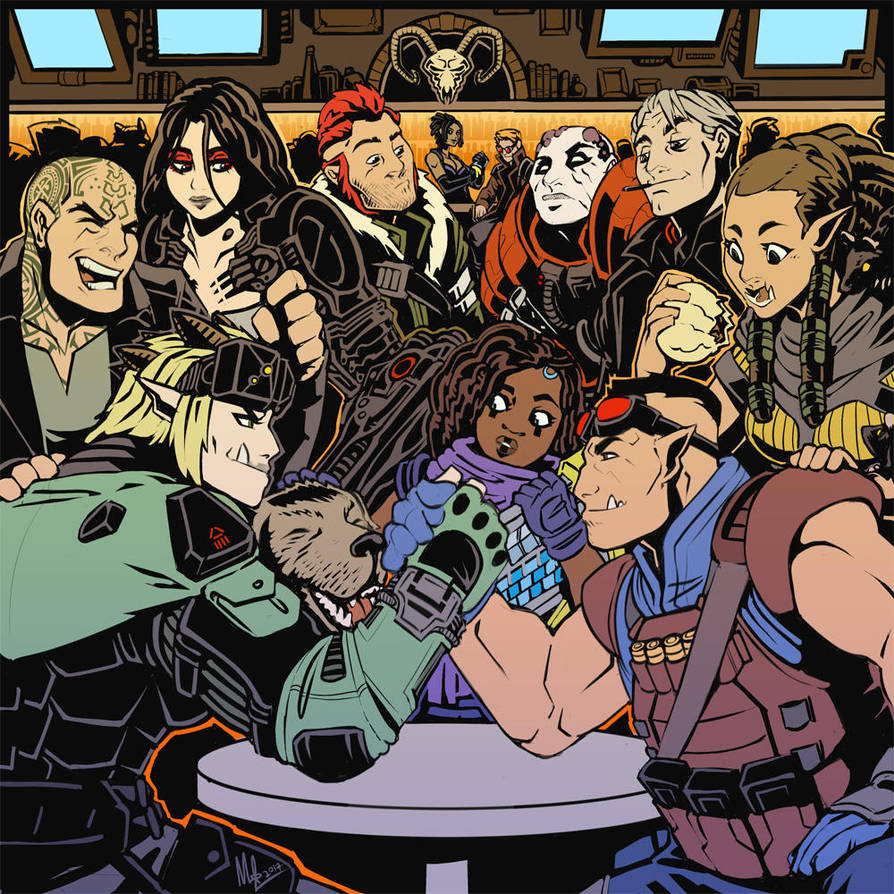 Shadowrun All-Stars by Lord-Of-The-Guns