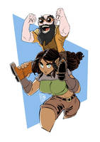 Giada and Sprocket by Lord-Of-The-Guns
