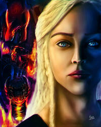 Daenareys : Fire and Blood by 13nin
