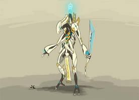 Warframe Fanart - Orokin Guardian Unit by Krion112
