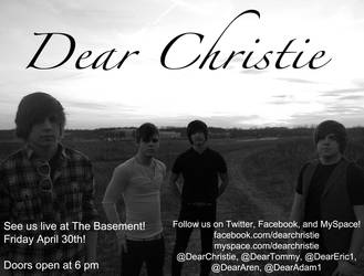 Dear Christie Promotional Flyer by shadowsintheknyght