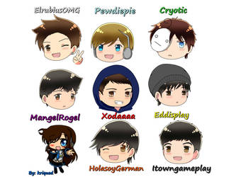 youtubers by nuria-dosrios