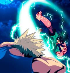 My-Hero-Academia-Midoriya-vs-Bakugou by GEVDANO
