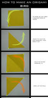 TUTORIAL: Origami Bird by DarkUmah