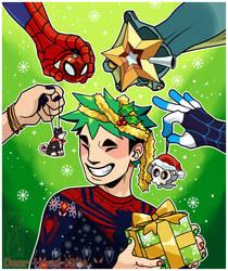 Merry Spiders by Deer-Head