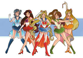 Sailor Scouts by Amy-Hands