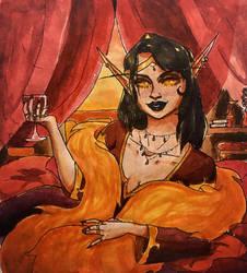 A highclass Sin'dorei by Gallathiel