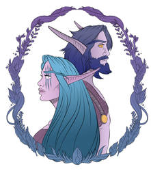 The Druid and the Mage by Clutchie