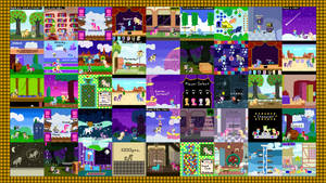 Retro Pony Pixels One Year Anniversary Wallpaper by Zztfox
