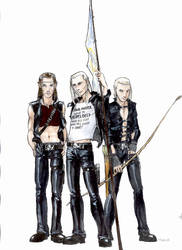 Lorien Lads in Black Leather by PPCAgents