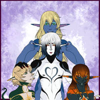 Noel and his girls. by ChemicalyInbalanced