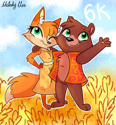 Fox and Bear by MeLoDyClerenes