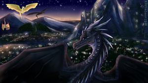 Wings of Fire - Darkstalker's Reunion by Biohazardia