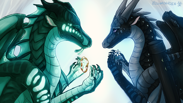 Wings of Fire - Clearsight and Fathom's Goodbye by Biohazardia