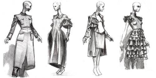 Fashion Sketches by RyanJampole