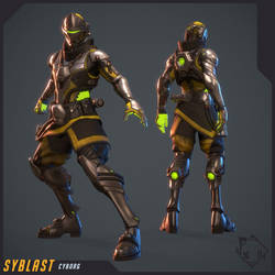 Syblast - Cyborg Skin by Vexod14