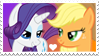 Applejack x Rarity Stamp by Mario-Wolfe