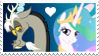 Discord x Princess Celestia Stamp by Mario-Wolfe