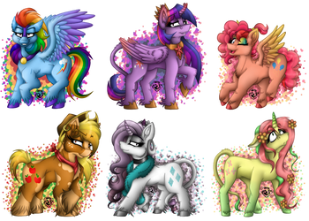 The Mane Six by Mario-Wolfe