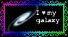 I love Milky way stamp by Deltaruka