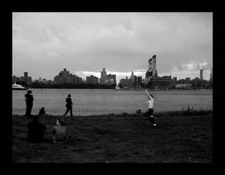 NYC, BW sunset, 3 by severfire